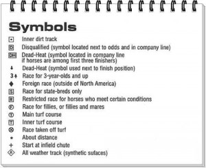 Past Performance Symbols How to read in Horse Racing