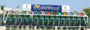 Horse racing post position and starting gate