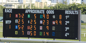 Horse Racing Tote Board